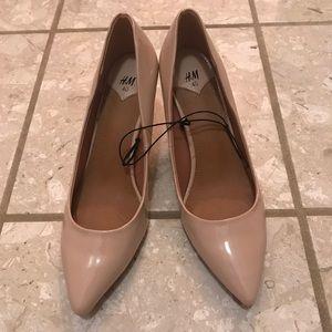 Tan heels size 40 H&M never worn